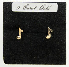 END OF LINE - 9 CARAT STUD EARRING, MUSIC QUAVER NOTE, MUSICIANS SPECIAL FOR £13