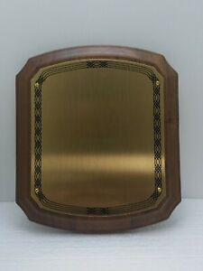 "America's Favorite Honor Award Plaque Solid Walnut 8"" X 7""  Gold Brass"