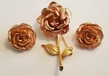 Jackie Kennedy JBK Gold Tone Pin/Brooch and Earring Set - just fabulous