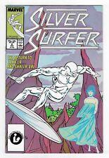 SILVER SURFER vol.3 no.2 COPPER AGE MARVEL COMIC BOOK Circa 1987 HIGH GRADE NM