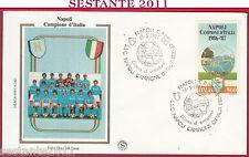ITALIA FDC FILAGRANO GOLD NAPOLI CAMPIONE D'ITALIA 1987 ANNULLO Y154
