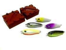 Unique custom mold for small jig DIY micro jig lure 4.5 cm, 3g - 28g