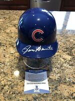 Ron Santo Autographed Chicago Cubs Riddell Mini Helmet Beckett COA HOF