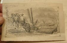 ANTIQUE ILLUST ADVERTISING WARDER MITCHELL & CO CHAMPION REAPER FARM MACHINERY