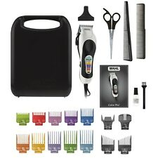 New Wahl Color Pro PLUS Haircutting Clippers 22 Piece Kit 79752T Haircut Set