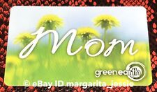 """GREEN EARTH CANADA GIFT CARD """"MOM"""" DANDELION HAPPY MOTHERS DAY 2018 NO VALUE NEW"""