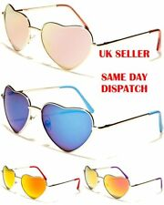 Stunning Mirrored Metal Heart Design Womens Girls Sunglasses 100%UV400 10054