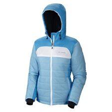 41f8def90d9 Columbia Women Insulated Winter Hooded Down OMNI-HEAT jacket Coat M New Ski