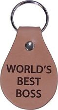 World's Best Boss Leather Key Chain - Great Gift for Boss and Bosses Week