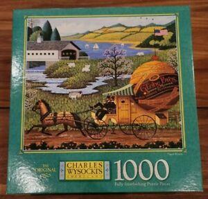 Paper Route  - Vintage 1997 Charles Wysocki 1000 Piece Puzzle