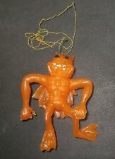 Vintage Rubber ugly monster jiggler humanoid cat mn creature Cheshire Cat