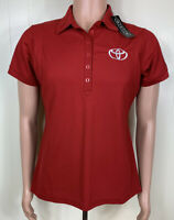 Red TOYOTA Women's Polo Golf Shirt Size Large Ogio NEW NWT