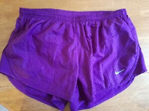 Nike Dry Fit Shorts Womens Purple Medium