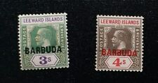 BARBUDA 1922 0.5d to 4s SG 1 // 10 Sc 1 // 10 MH