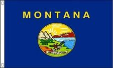 Montana Flag 5 x 3 FT - 100% Polyester With Eyelets - American State Flag