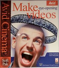 Avid Cinema SoftPack v1.5 Make Videos Windows 98 Movie English 1999 NEW SEALED