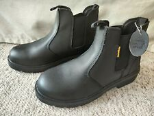 BNWT Earth Works Saftey Steel Toe Cap Size 10 Black  Boots Leather