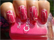 Sally Hansen Crackle Overcoat 04 Fuchsia Shock Hot Pink Buy 2 or more Get 15%off