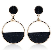 MARNI H&M Black Oval Pendant Earrings