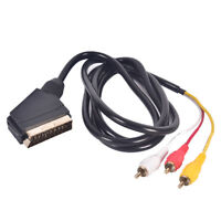 Cavo da 1,5 m Scart a RCA Triple 3 x Cavo audio composito Video Lead GOLD WQ