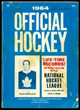 1911-1964 OFFICIAL HOCKEY NHL Guide LIFE TIME RECORDS for EVERY PLAYER Howe back