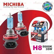 2x H8 12V 708 5000K WHITE MICHIBA Headlight Bulb for FRONT FOG Lamps 35W PGJ19-1