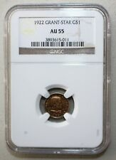 1922 Grant Four Star General Commemorative Gold $1 Coin Certified NGC AU55