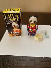 Vintage Wind Up Clock Work Panda Drummer Made in China BNOS