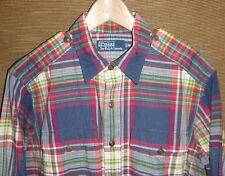Men's Polo Ralph Lauren Plaid Workshirt Indian Madras Modern Safari Shirt Size M