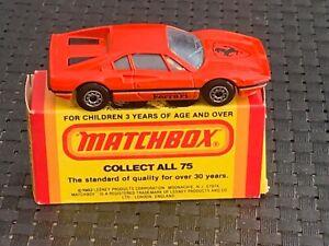 Matchbox (Lesney) FERRARI #70 GTB w/L-Style Box, 1981 NEW Vintage