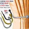 Large Stylish Metal Curtain Hold Back U Shaped Tie Tassel Arm Hook Loop Holder