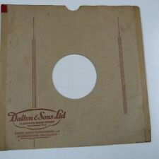 "10"" 78rpm gramophone record sleeve DALTON & SONS LTD 11 London Road Derby"