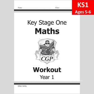 KS1 Year 1 Maths Workout with Answer Ages 5-6 CGP