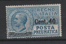 FRANCOBOLLI - 1925 REGNO POSTA PNEUMATICA MNH Z/8085