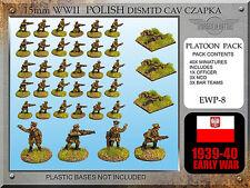 Forged in Battle FOW WW2 15mm Early War Polish Dismounted Cavalry Czapka