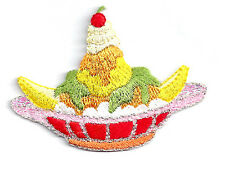 Banana Split - Boat - Ice Cream - Desert - Embroidered Iron On Applique Patch