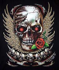 Harley Skull ROSE 3d motivo t-shirt nuevo motivo M L XL XXL Death Row Lowriders