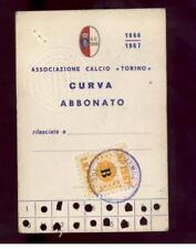 Calcio-football torino Abbonamento  1966/67