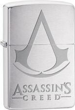 Zippo Assassins Creed Chronicles Franchise Logo Video Game Brushed Chrome 29494