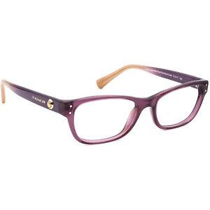 Coach Eyeglasses HC6082 5351 Crys Plum/Crys Plum Blush Gradient Frame 51[]17 135