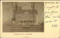 Newtown CT FJ Naramore Home c1905 Postcard