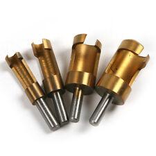 4pcs Titanium Wood Plug Cutter Tenon Hole Claw Drill Bit Dowel Tool Set 6-16mm