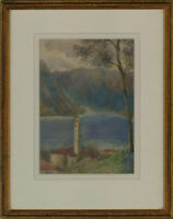 E. A. Millais - Signed & Framed 1914 Watercolour, Lake Como, Italy