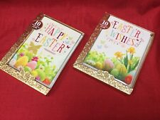 Easter Greetings Cards, 20 Cards In 2 Contemporary Designs, BNIB, Free Postage