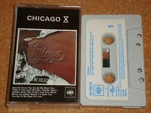 CHICAGO - X - cassette tape album - paper labels