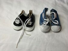 Black and White Dress Shoes & Gym Shoes for American Girl Size Doll or Similar