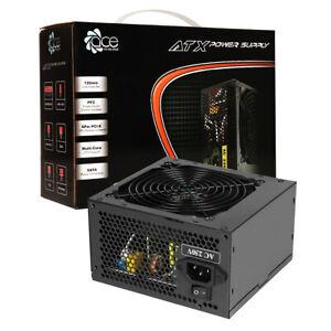 ACE 700W Black ATX Gaming PC PSU Power Supply 120mm Fan 6 Pin PCI Exp 8 pin CPU
