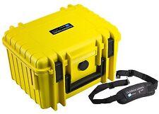 B&W al aire libre duro caso 2000 Amarillo relleno de espuma + correa de transporte 270x215x165mm