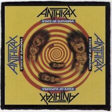 Anthrax State Of Euphoria Printed Patch A073P Metallica Slayer Exodus