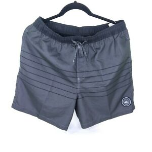Quicksilver Mens Volleyshorts Swimtrunks NEW with Tags Black/Gray